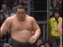 Sumo-Asashoryu vs Ama, Kyushu 2005 相撲