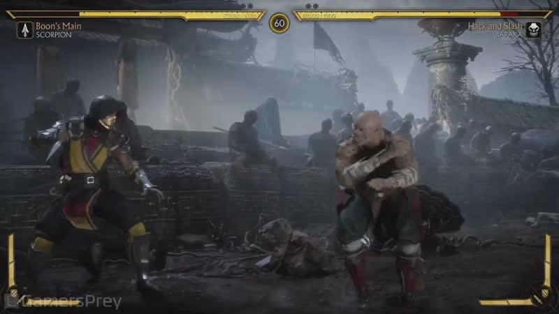 Motral Kombat 11 — Скорпион vs Барака