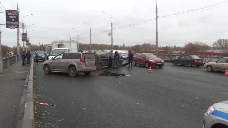 Основная версия массовой аварии на Лебедянском шоссе обледенение дороги