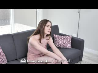 Castingcouch-x busty brunette picked up by casting agent