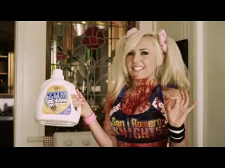 Джесика Нигри рекламирует порошок #video #cosplay #boobs #schoolgirl #pigtails #miniskirt #LOL #JessicaNigri #stockings