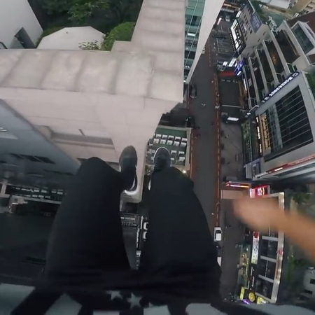 "M A X S T O R R O R C A V E on Instagram: ""New @storror YouTube video, check it. Went back to Gangnam roof gap a couple days after doing it to g..."