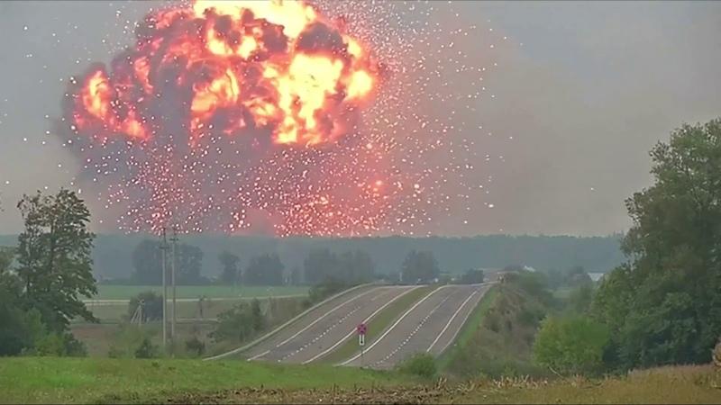 27 марта 2017 Massive explosion at Ukraine ammunition depot forces evacuation