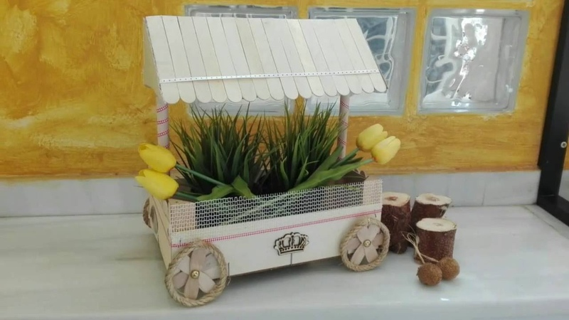 Carrito de chuches 3 reciclando una caja de fresa, diy recycled wood box