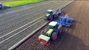 Ploughing, Drilling Sugar Beet Claas Xerion Lemken 9 furrow Karat 9 Beet Eater NIVU2004