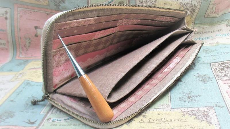 L型ファスナー長財布 作ってみた&作り方 How to make an L-shaped Fabric Wallet
