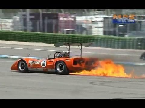 Can Am Supersports - Big Banger V8 - McLaren M8F - Good Sound Backfire