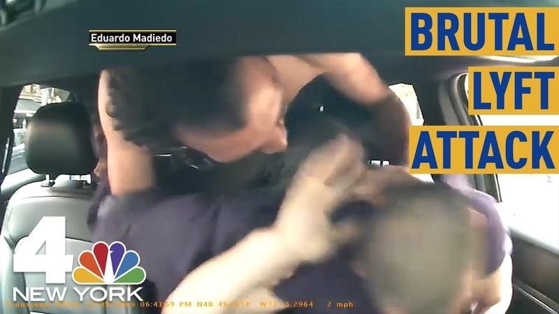 NYC Lyft Passenger Caught on Camera Savagely Beating Driver   NBC New York