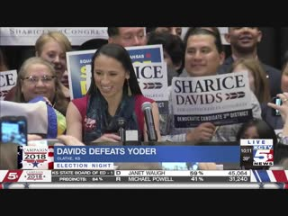 ЛГБТ - демократ Шарица Девидс победил Kansas Republican Rep. Kevin Yoder loses to LGBT Native American Democrat Sharice Davids