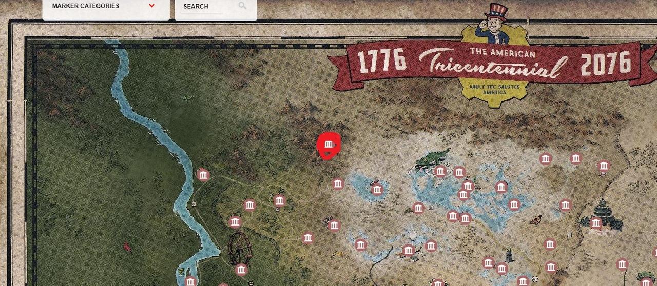 The Crosshair на карте в Fallout 76