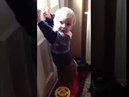 Baby hit by postman