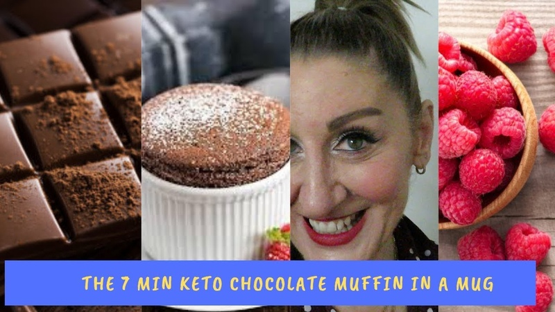 The 7 minute Keto dairy free gluten free sugar free chocolate Muffin