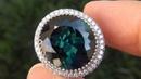 Natural Indicolite Tourmaline Diamond Ring A320