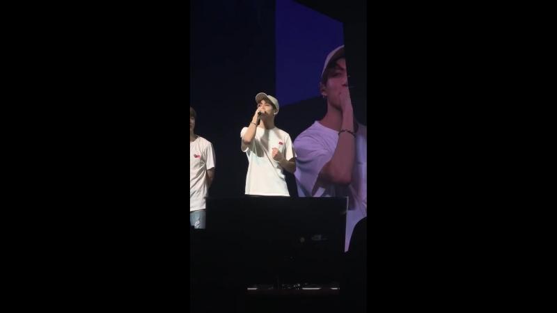 Swole baseball cap boyfriend jungkook giving his ending ment u__u BTSinAmsterdam