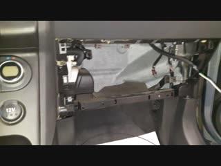 Защита от угона Nissan Qashqai 2009 - Пример разбора салона для скрытой установки