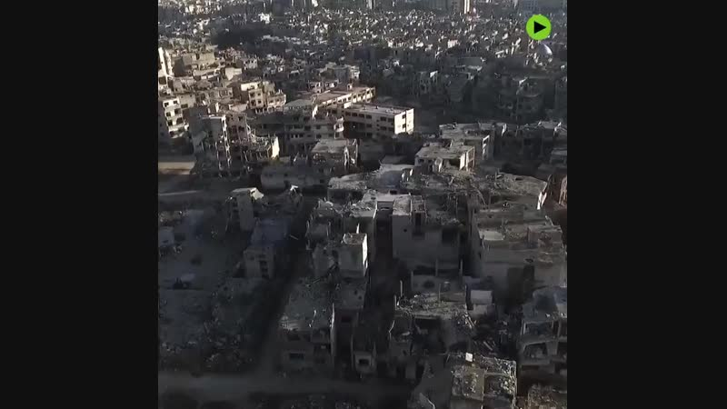 Drone footage captures total destruction of Homs, Syria httpst.co_LnORJ68IxT