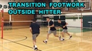 Outside Hitter TRANSITION Footwork (Left Wing Spiker) - Volleyball Tutorial