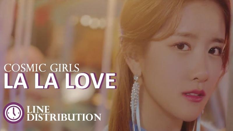 Cosmic Girls (우주소녀) [WJSN] - La la Love : Line Distribution (Color Coded)