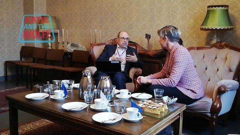 Katie Hopkins with Ari Heikkinen, Administrative Director, Oulu City Council