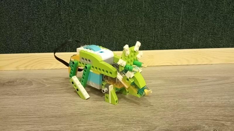 Детский центр робототехники Умник - робот-трицератопс