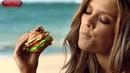 Запрещенный рекламный ролик 2014 Красивая девушка сексуально ест сэндвич