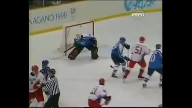 Нагано 1998. Россия - Финляндия - 7:4 (5 голов Павла Буре)