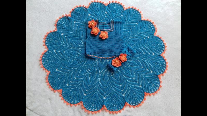 Вяжем крючком платье на девочку 6 7 лет часть 3 12 25 ряды knit dress for girl » Мир HD Tv - Смотреть онлайн в хорощем качестве