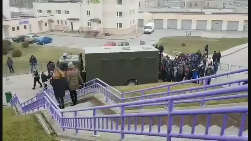 Досмотр фанатов брестского Динамо в Гродно