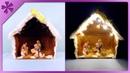 DIY Christmas crib with lights (ENG Subtitles) - Speed up 279