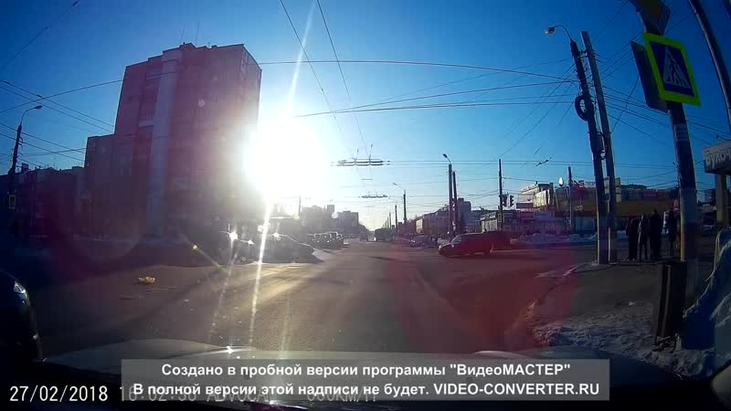 ДТП Дзержинск. Перекрёсток Циолковского - Гайдара 27.02.2018 г.