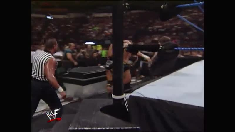 HHH Vs The Rock Brahma Bull Rope Match British Bulldog as Guest Referee SmackDown 23 09 1999