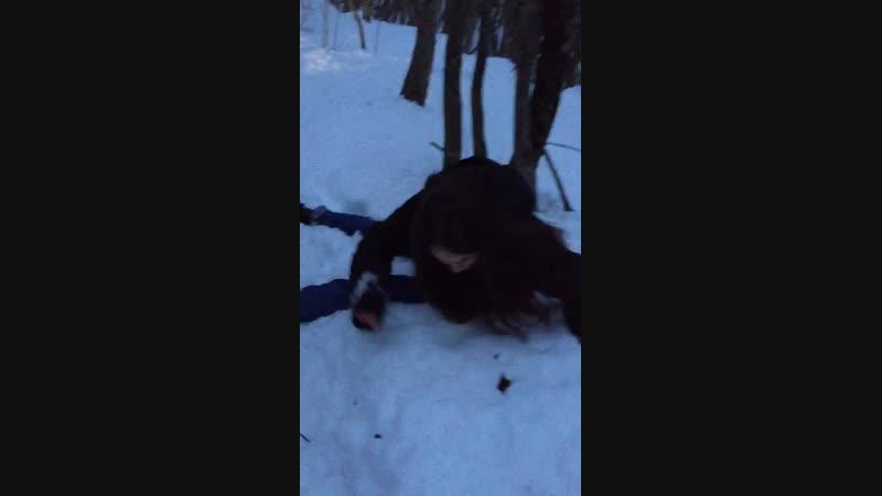 Когда Настя очень хотела на снег 😁