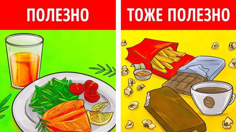 9 вредных продуктов которые на самом деле полезны для здоровья