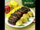 """Король праздничного застолья рулет Веер"""" из свинины с запеченным картофелем"""