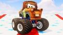 Мультики про Машинки Мультачки Мэтр Монстр Трак Гонки Приключения Игрушек Disney Cars for Kids