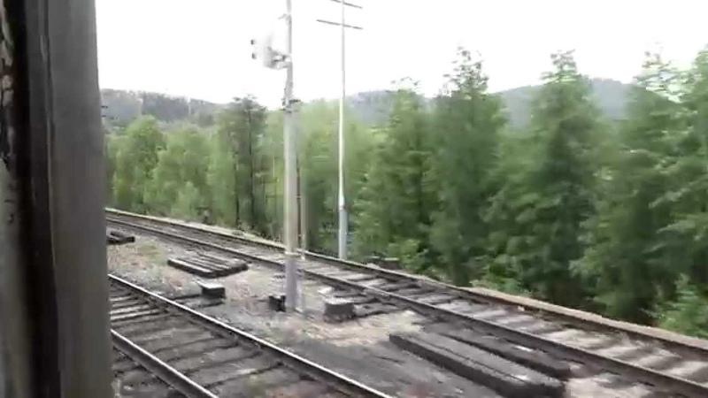 БАМ из окна поезда.Новая Чара-Хани.Часть8.Спуск в Хани.