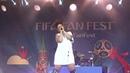 Eva Simons( FIFAFanFest,Воробьёвые Горы,1.7.18)