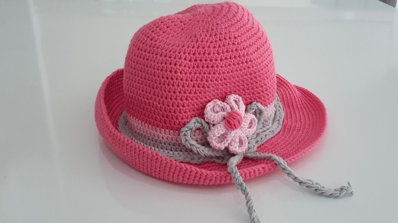 Kız Çocuklar İçin Örgü Takım Yapılışı 2 - Şapka Yapımı