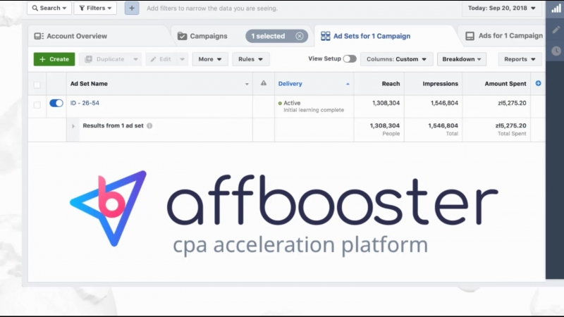 «AffBooster» Spend Proof 200k (double account's)