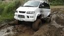 Mitsubishi Delica OFF-ROAD Делика на бездорожье и камнях