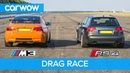 BMW E92 M3 GTS vs Audi RS4 B7 - DRAG RACE, ROLLING RACE REVIEW