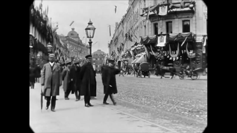 53 cекунды. Тверская улица, Москва. Май 1896 год. Съёмка Шарля Муассона (Charles Moisson) и Франсиса Дублие (Francis Doublier)