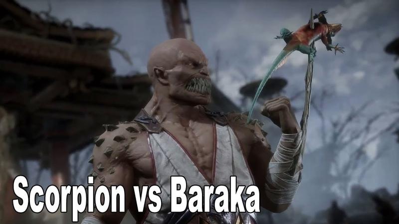 Motral Kombat 11 - Бой Скорпиона против Бараки