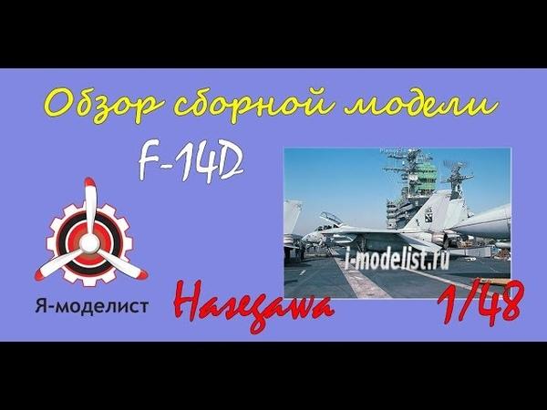 Обзор содержимого коробки сборной масштабной модели фирмы Hasegawa: F-14D Tomcat 'CVW-14' в 1/48 масштабе. i-modelist.ru/goods/model/aviacija/hasegawa/371/9221.html