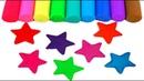 УЧИМ ЦВЕТА Плей До звезды Обучающее видео для детей на русском