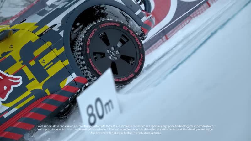 Audi e-tron extreme_ Audi e-tron technology demonstrator climbs the Streif