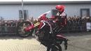New Honda Africa Twin CRF1000 test drive stuntride show by Lisak