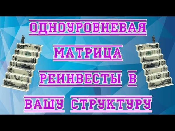 Здесь заработает каждый Одноуровневые матрицу с реинвестами в вашу структуру Деньги в кошелек