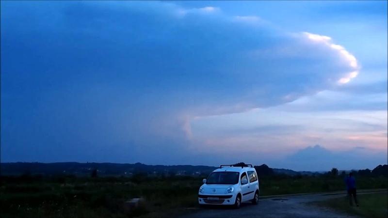 Cumulonimbus Cloud at Sunset