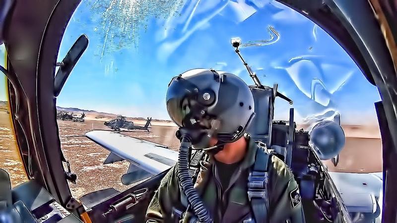 A-10 Warthog Landing/Takeoff On Dirt (FARP) • Cockpit View